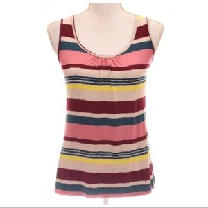 Anthropologie Striped Multicolor Top